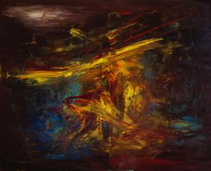 Wagner's Siegfried's death (73x90cm, oil on canvas)